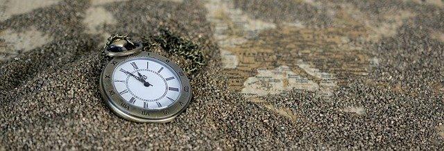 hodinky v písku