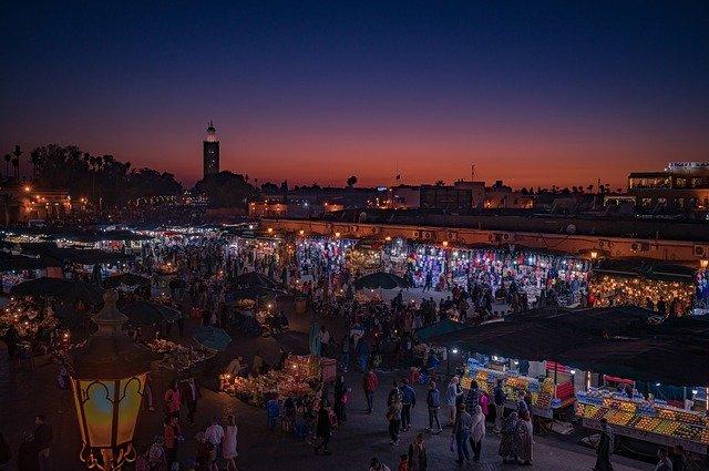 tržiště v Maroku